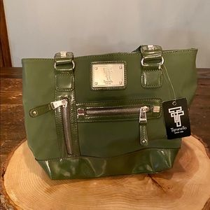 NEW!  Tignanello Tech Shopper Loden Bag